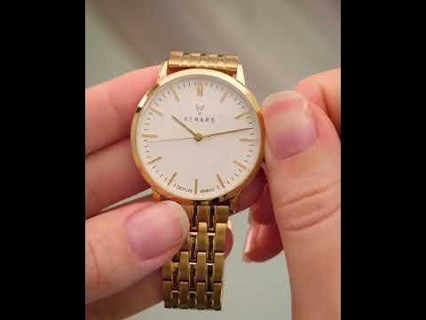 Renard Elite 35.5 ladieswatch wit/goudkleurig