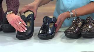 Alegria Classic Leather T-Strap Clogs with Jane Treacy