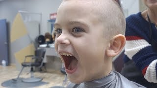 HE LOOKS HAPPY! | HE LOVES HIS HAIRCUT AT GREAT CLIPS | PRANKING DAD