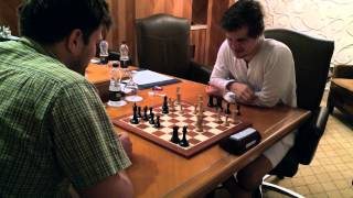 Magnus Carlsen Training for Chess Tournament in Oman