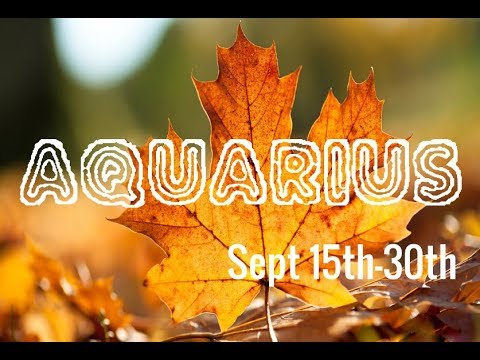 AQUARIUS ♒️ They Want To Marry You! Sept 15th-30th