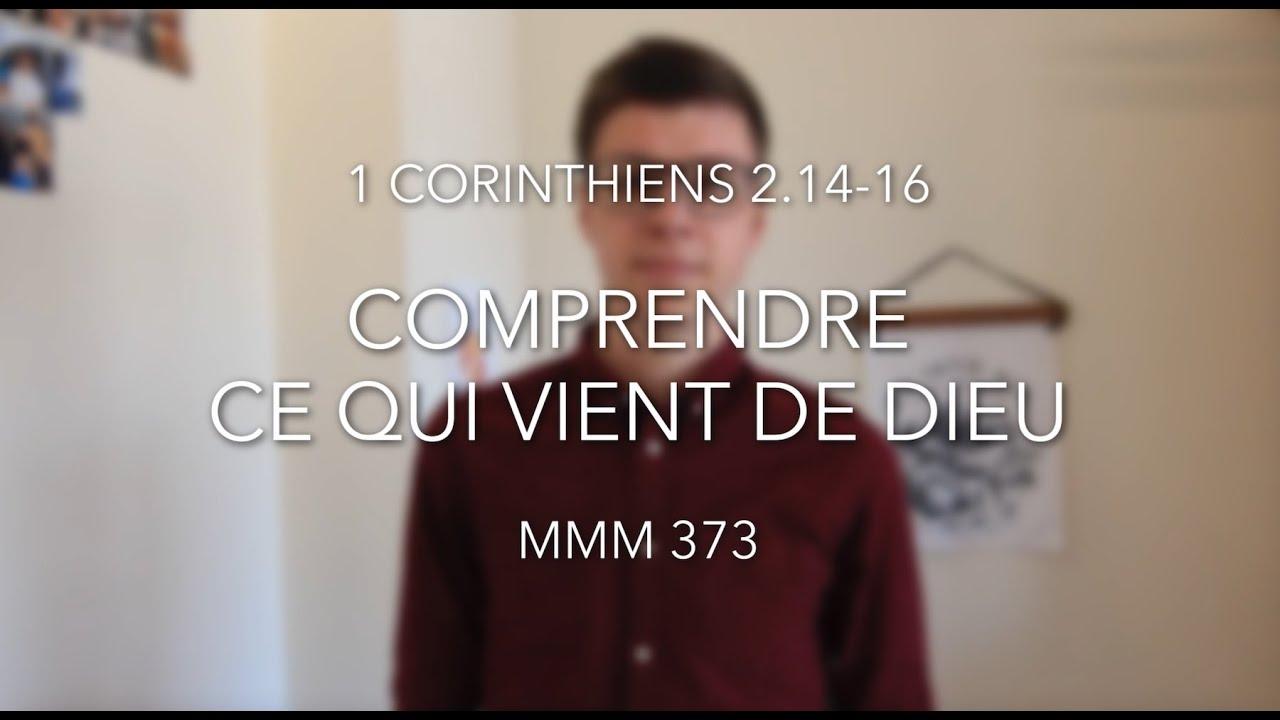 Comprendre ce qui vient de Dieu (1 Corinthiens 2.14-16)