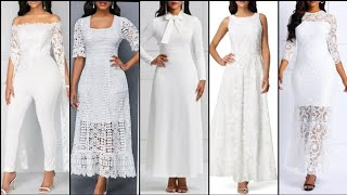 Stylish Stunning And Elegant  Most Trendy Different Style White Formal Dresses 2020 Collection