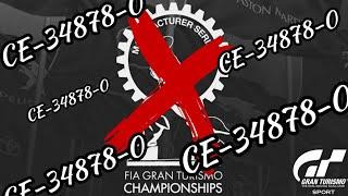 Gran Turismo Sport - Modo Sport | Manufacturer Series - Error CE-34878-0 me expulsa de carrera 😣