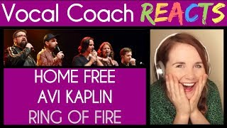 Vocal Coach Reacts to Home Free and Avi Kaplan Ring Of Fire