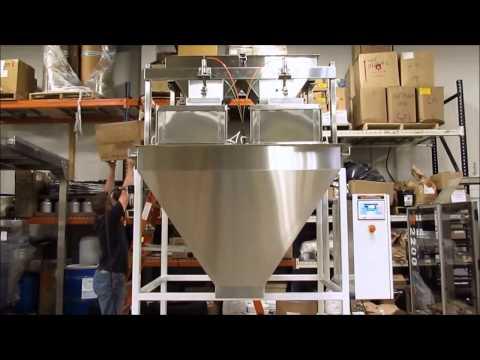 50 lb Box Fill Mixed Nuts Vibratory Filler | VF200-HDX | All-Fill VF-HDX Series