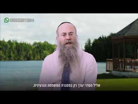 ממתק לשבת: פרשת תזריע-מצורע עם הרב נחמיה וילהלם