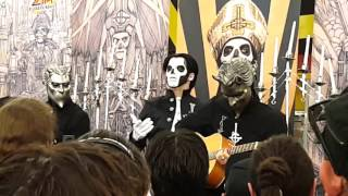 The band Ghost (Grammy 2016 - Best metal performance) performs at Zia Records, Phoenix Arizona