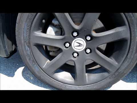 Plasti Dipped Rims on an Acura TSX