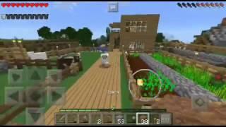 Выживание в Minecraft PE.(прохождение)4 серия(строим фазенду)