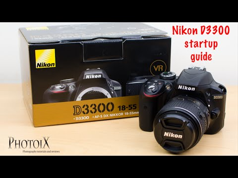 Nikon D3300 and 18-55mm beginner user guide