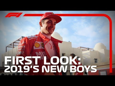 F1 2019 First Look - Drivers In New Cars And New Overalls In Abu Dhabi