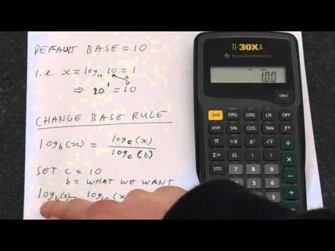 Ti 30xa How To Change Log Base Log Base 2 Example