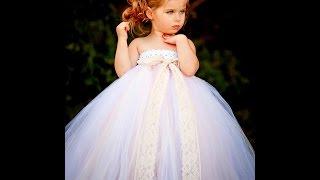 Beautiful White Tutu Dresses For Flower Girl, Weddings, Baptisms Etc - Baby Diva Designs