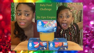 3 Jars In 3 Min Baby Food Challenge (1 Entree 1 Vegetable 1 Dessert)  By: Epic Empire