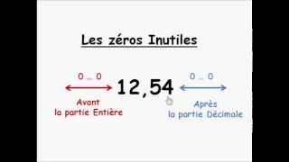 Math 6ème : Les Zéros Inutiles ( Les Nombres Décimaux )