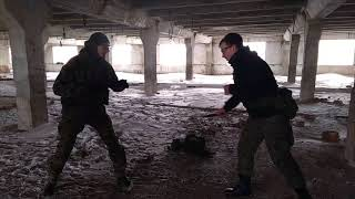 Авангард Курск. Тренировка ножевого боя