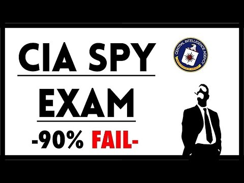 Can You Pass a CIA Spy Exam? - 90% FAIL
