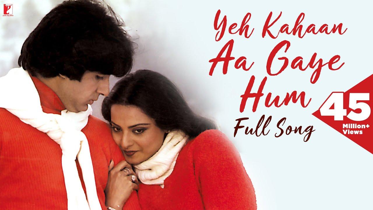 Yeh Kahan Aa Gaye Hum  Lata Mangeshkar & Amitabh Bachchan Lyrics