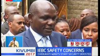 IEBC chair Wafula Chebukati demands security for his staff following the murder of Chris Msando