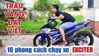 Hướng dẫn chạy xe côn tay Exciter 150 ▶ Siêu Hài với 10 Phong cách!
