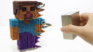 Monster Magnets Vs Steve Minecraft   Make Steve With Magnetic Balls