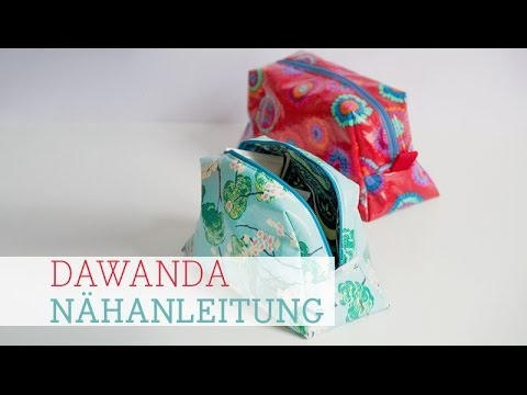 DaWanda Nähanleitung: Kosmetiktasche
