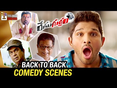 Race Gurram Telugu Movie  Back to Back Comedy Scenes  Allu Arjun and Shruti Haasan