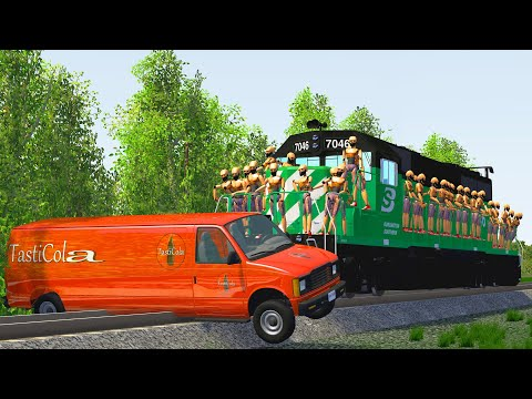 Beamng Drive - Indian Train Crashes 2 - Crashtherapy