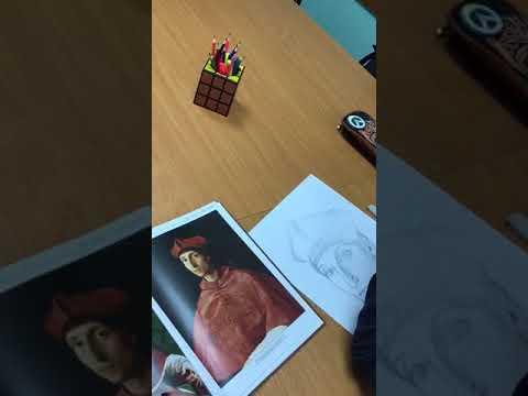 Урок рисование в нашей школе. Январь 2018
