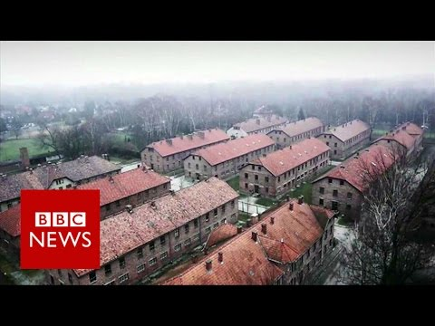 Drone video of Nazi concentration camp in Auschwitz