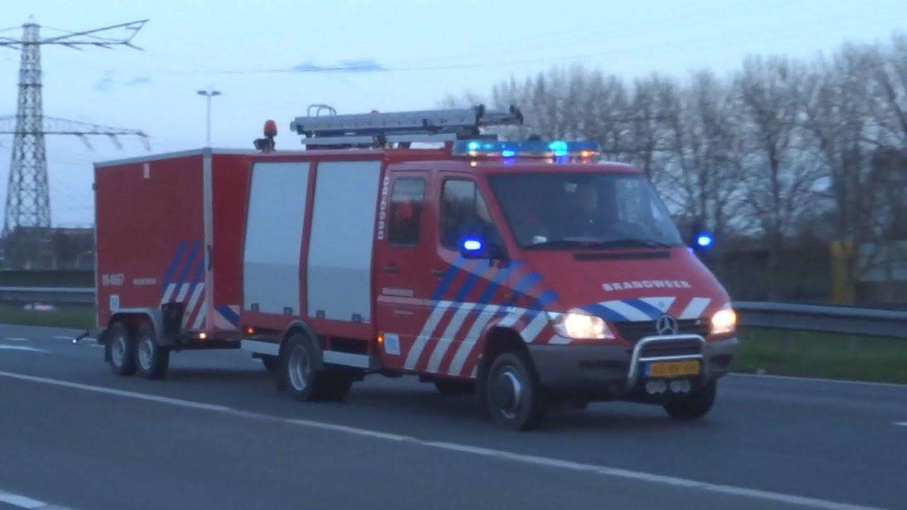 Brandweer Werkhoven & Langbroek Rietdekkersteam met spoed naar Grote Brand Kilweg Dordrecht! (697)