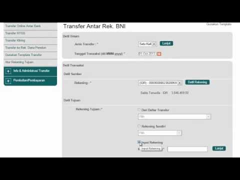 Transfer Dana Antar atau Sesama BNI Terjadwal BNI INTERNET BANKING