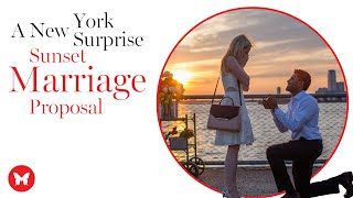 Interracial Couples New York Sunset Surprise Marriage Proposal