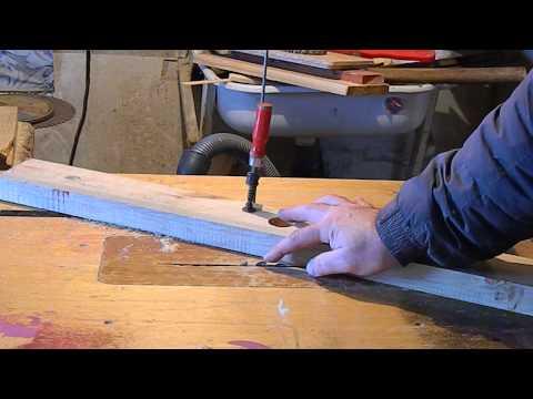 изготовление полукруглого паза на  циркулярке