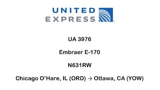 United Express UA 3732 - Chicago O'Hare (ORD) → Ottawa (YOW)(10/7/2016)