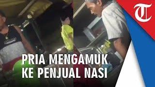 Video Pria sedang Marah-Marah ke Pedagang Kaki Lima, Lantaran Minumannya Dihitung Seribu Rupiah