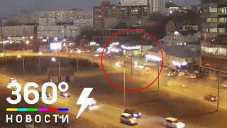 Момент крупной аварии во Владивостоке попал на видео