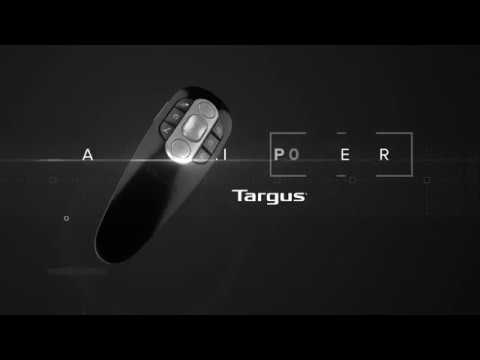 Targus Wireless Air Pointer Presentation Remote Control Compatible With Windows and Mac - Black/Grey - video 1