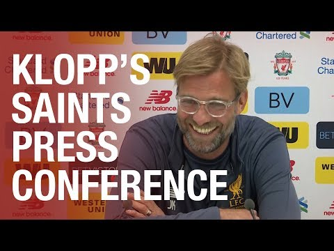 Jurgen Klopp's Southampton press conference from Melwood | Lallana, Mane, Clyne and more