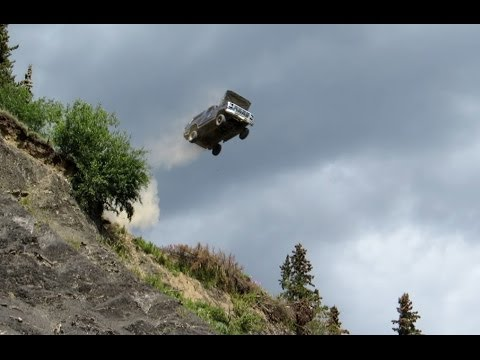 Geo Tracker And Ford Bronco Jumps Off A 300' Cliff
