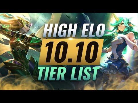 HIGH ELO Best Champions TIER List - League of Legends Patch 10.10