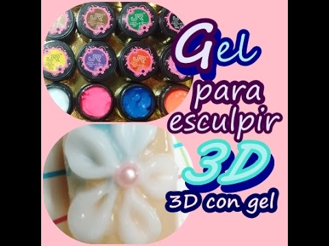 3D Gel /3D Lace Nail Art / Gel para esculpir /fashion 3d sculpture uv gel