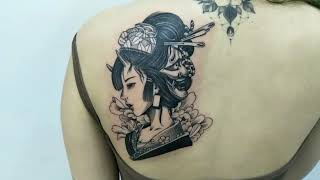 Geisha Tattoo By Inng 💋Tel : 0182195884 💋Wechat : Xiaoinng1834 💋Instagram : Xiao_inng 👉Pls Follo