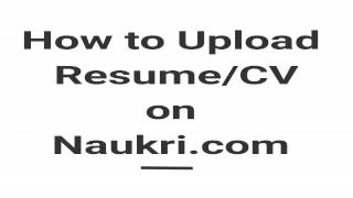 how to upload resume in naukri com apply job in