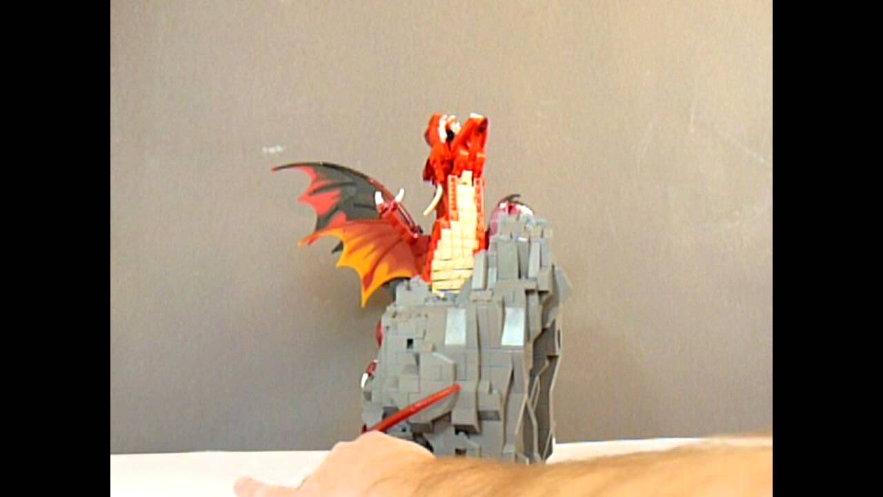 This Lego Dragon Actually Spits Fire Out Of Its Mouth