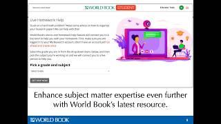 Live Homework Help! – World Book online
