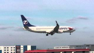 preview picture of video 'Travel Service - Boeing 737-800 - landing @ Warsaw Chopin Airport'