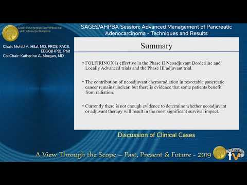 Discussion of Clinical Cases - Pancreatic Adenocarcinoma