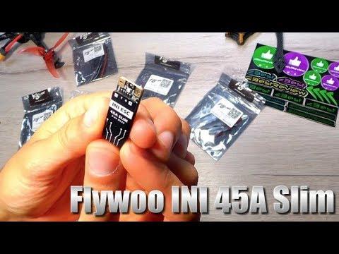 ✔ FLYWOO INI 45A Slim - Раздельные регуляторы 45A 2-6S BLheli_32 для FPV Квадрокоптера!